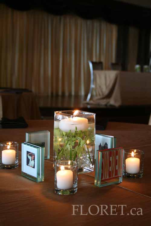 personalised wedding centerpieces