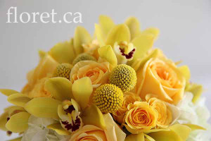 Golden Yellow Bridal Bouquet | Floret.ca
