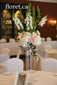 Wedding Centerpiece At The Old Mill | Floret.ca