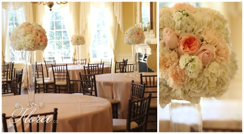 Pink and Apricot Wedding Reception at Graydon Hall Manor
