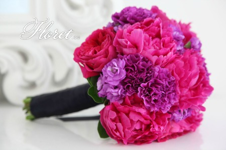 Fuschia bridal bouquet