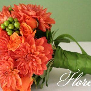 orange_dahlia_bridal_bouquet