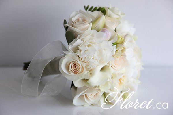 Beautiful White Peony Bouquet – Just Like a Celebrity Wedding