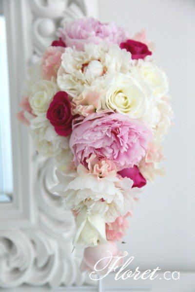 Peony Cascading Bouquet | Floret.ca