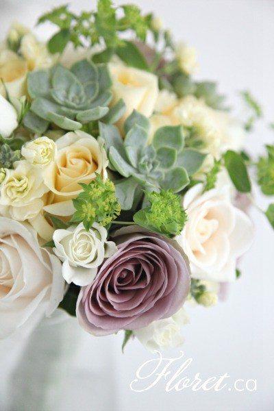 Succulent Bridal Bouquet | Floret.ca