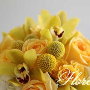yellow_cymbid_bridal_bouquet