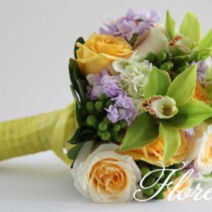 yellow_green_cymbid_bridal-bouquet
