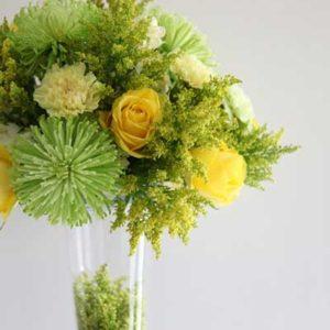 yellow_green_wedding_centerpiece