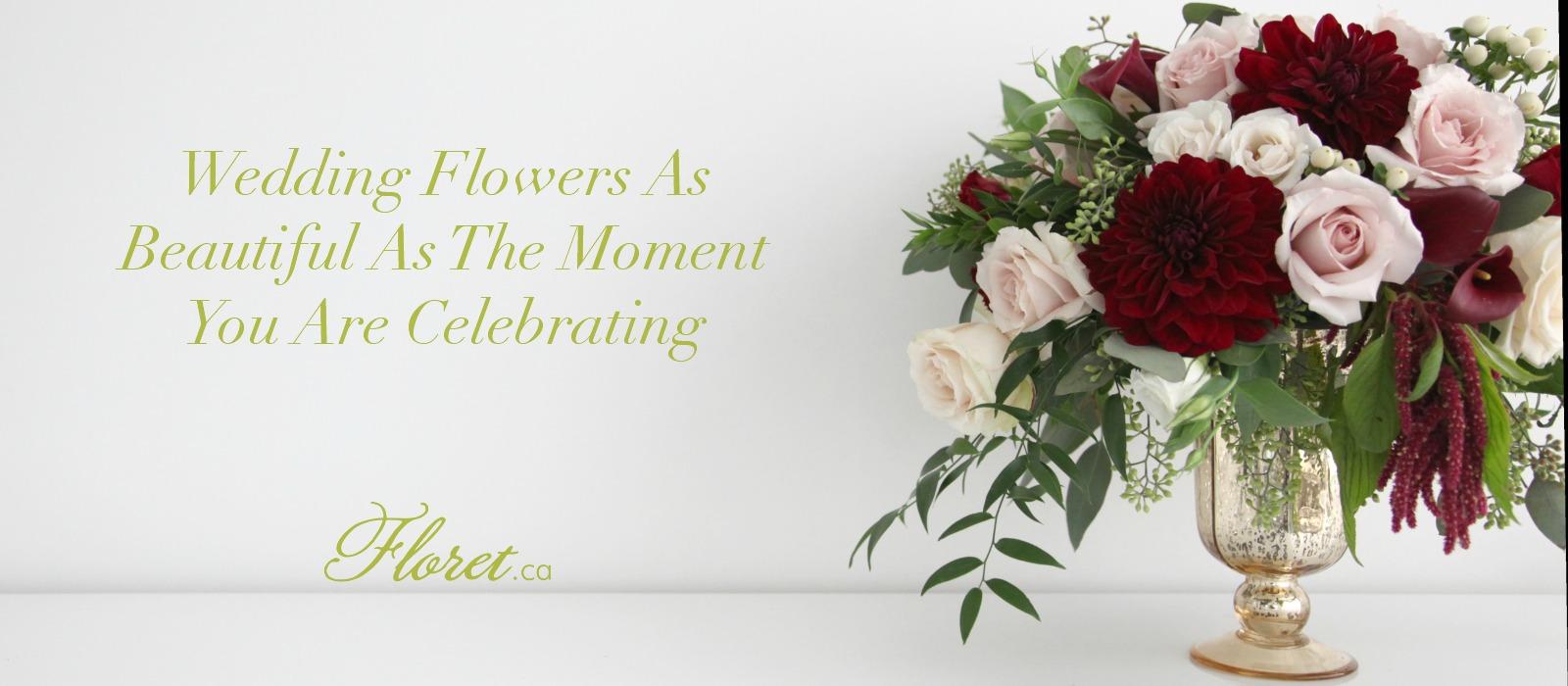 Wedding flowers in toronto wedding florist toronto welcome to floret for your wedding flowers in toronto izmirmasajfo