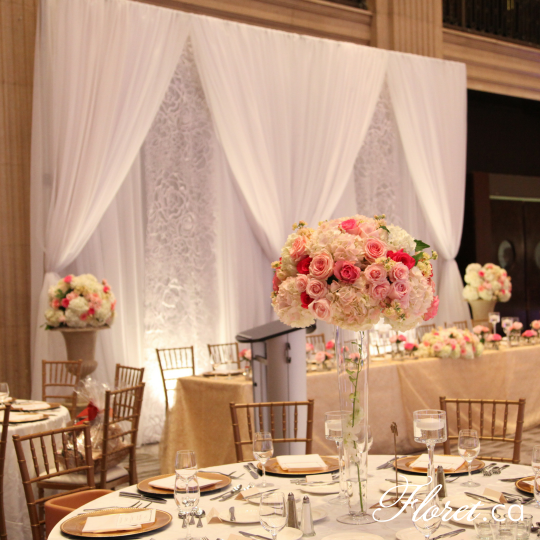 Wedding Backdrop at One King West